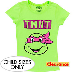 Child Pink Teenage Mutant Ninja Turtles T-Shirt