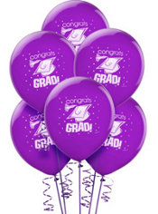 Purple Latex Graduation Balloons 12in 15ct