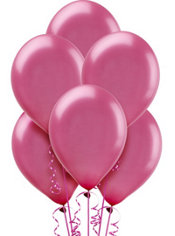 Pearl New Pink Rose Latex Balloons 12in 10ct