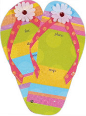 Flip Flops Jumbo Invitations 8ct
