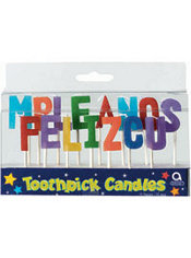 Feliz Cumpleanos Toothpick Candles 15ct