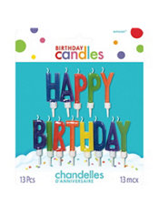 Multicolor Happy Birthday Candles 13ct