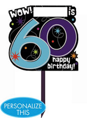 The Party Continues 60th Birthday Yard Sign
