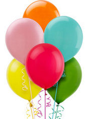 Assorted Color Balloons 72ct