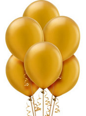 Gold Pearlized Latex Balloons 12in 72ct