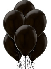 Black Pearlized Latex Balloons 12in 72ct