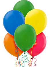 Assorted Color Latex Balloons 12in 15ct