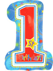 Foil One-Derful Birthday Boy Balloon 28in