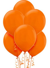 Orange Peel Latex Balloons 12in 15ct