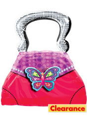 Foil Glitzy Girl Purse Birthday Balloon 28in