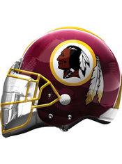 Washington Redskins Helmet Foil Balloon 26in