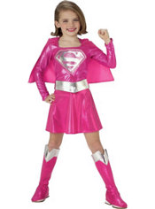 Toddler Girls Pink Supergirl Costume