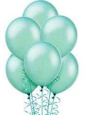 Aqua Balloons 72ct - Pearl