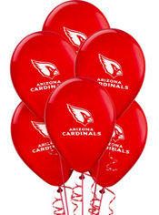 Arizona Cardinals Latex Balloons 6ct