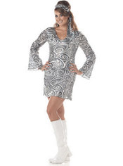 Adult Disco Diva Plus Size 70's Disco Costume
