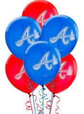 Atlanta Braves Balloons 6ct