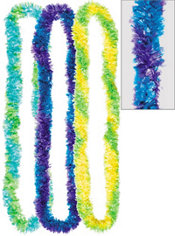 Cool Two-Tone Fringe Poly Leis 3ct
