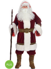 Adult Old Time Santa Suit Plus Size Deluxe