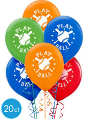 Baseball Latex Balloons 20ct