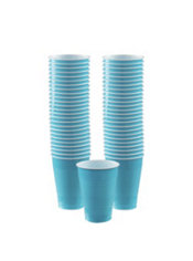 Caribbean Blue Plastic Cups 50ct