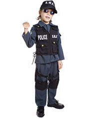 Toddler Boys SWAT Police Costume