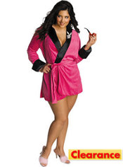 Adult Pink Sexy Girlfriend Costume Plus Size - Playboy