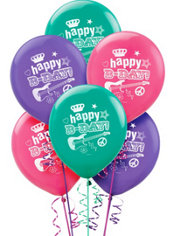 Rocker Girl Latex Balloons 12in 6ct