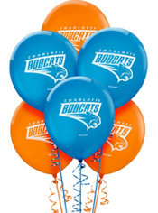 Charlotte Bobcats Latex Balloon 12in 6ct