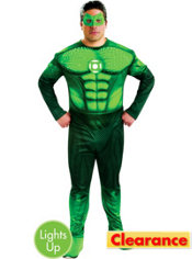 Adult Light-Up Hal Jordan Costume Plus Size Deluxe - Green Lantern