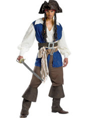Teen Boys Captain Jack Sparrow Costume Deluxe - Pirates of the Caribbean