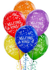 Latex Welcome Home Printed Balloons 12in 6ct