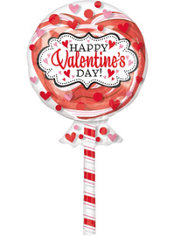 Foil Lollipop Insider Valentines Day Balloon 42in