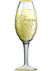 Foil Champagne Glass Balloon 38in