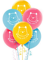 Winnie the Pooh Baby Shower Latex Balloons 15ct