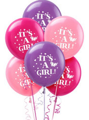 Tweet Baby Girl Latex Balloons 15ct
