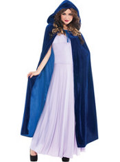 Cobalt Blue Hooded Cape