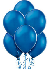Royal Blue Pearlized Latex Balloons 12in 100ct