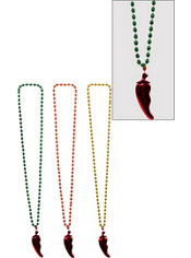 Chili Pepper Bead Necklaces 3ct