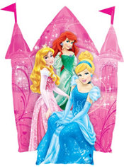 Foil Castle Disney Princess Balloon 36in