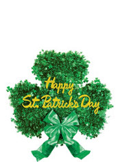 Deluxe Tinsel Shamrock Decoration
