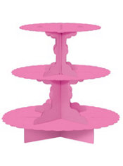 Bright Pink Cupcake Stand