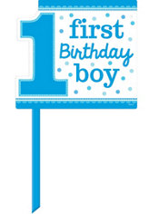 Blue Boy 1st Birthday Yard Sign