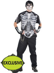 Adult Classic Black & Bone Skeleton Costume