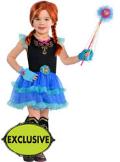 Girls Tutu Anna Costume - Frozen