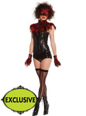Adult Flirty Fire Bird Costume