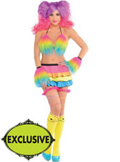 Adult Furry Electric Party Raver Costume