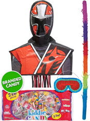 Pull String Red Power Ranger Pinata Kit