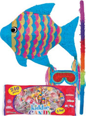 Neon Fish Pinata Kit