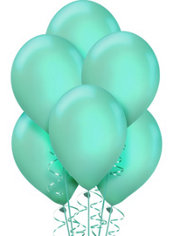 Robin's Egg Blue Pearl Balloons 72ct