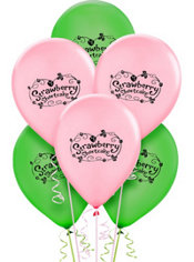 Latex Strawberry Shortcake Balloons 12in 6ct